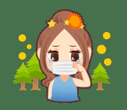 Weather girl Teruko sticker #242954