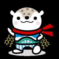 "Asahikawa city symbol character ""Asappy"""