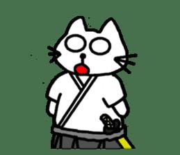 Samurai cat nekobee sticker #243225