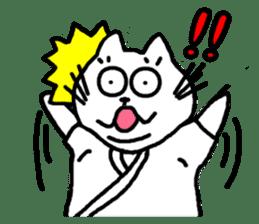 Samurai cat nekobee sticker #243227