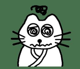 Samurai cat nekobee sticker #243231