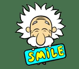 Dr.Einstein is struggling in his lab sticker #244657