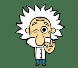 Dr.Einstein is struggling in his lab sticker #244659