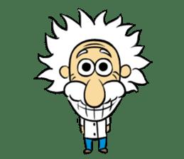 Dr.Einstein is struggling in his lab sticker #244660