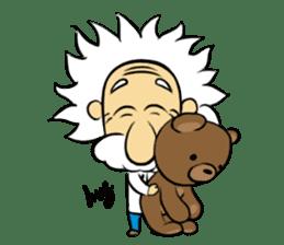 Dr.Einstein is struggling in his lab sticker #244661