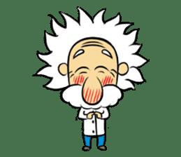Dr.Einstein is struggling in his lab sticker #244663