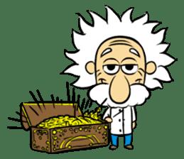 Dr.Einstein is struggling in his lab sticker #244667