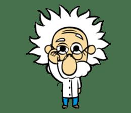 Dr.Einstein is struggling in his lab sticker #244671