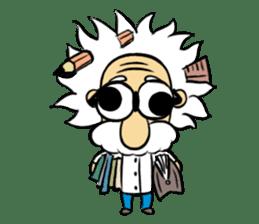Dr.Einstein is struggling in his lab sticker #244672