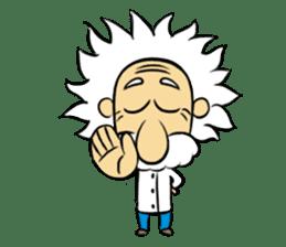 Dr.Einstein is struggling in his lab sticker #244673
