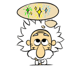 Dr.Einstein is struggling in his lab sticker #244675