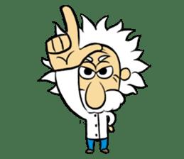 Dr.Einstein is struggling in his lab sticker #244677