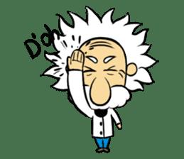 Dr.Einstein is struggling in his lab sticker #244685