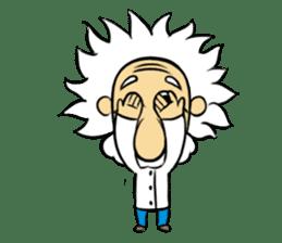 Dr.Einstein is struggling in his lab sticker #244690