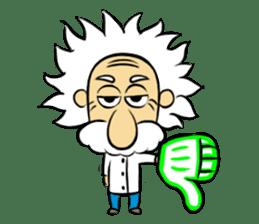 Dr.Einstein is struggling in his lab sticker #244693