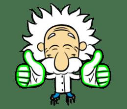 Dr.Einstein is struggling in his lab sticker #244694