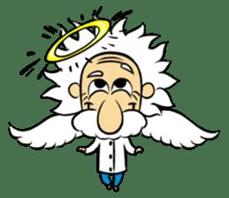 Dr.Einstein is struggling in his lab sticker #244695