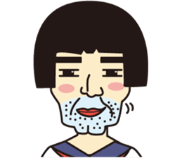 OYAJI GIRL sticker #246338