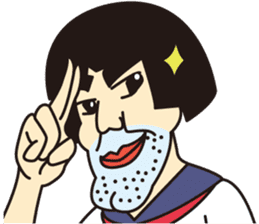 OYAJI GIRL sticker #246341