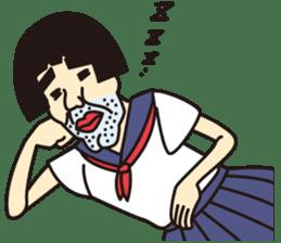 OYAJI GIRL sticker #246364