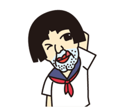 OYAJI GIRL sticker #246374