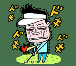 Enjoy golf -men golfer version- sticker #246591