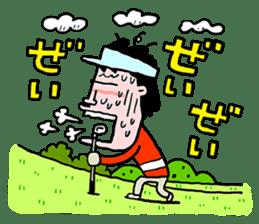 Enjoy golf -men golfer version- sticker #246601