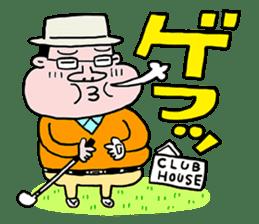 Enjoy golf -men golfer version- sticker #246603