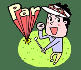 Enjoy golf -men golfer version- sticker #246615