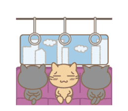 Daily life of stray cats Foo sticker #247072