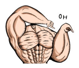 the Muscle men sticker #247154