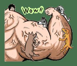 the Muscle men sticker #247170