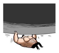 the Muscle men sticker #247181
