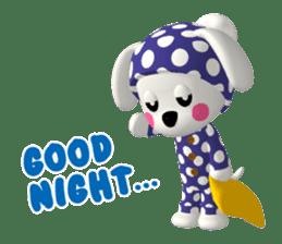 "3D WHITE DOG ""PEACE-K & HAPPY"" (1) sticker #247886"