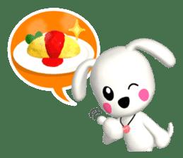 "3D WHITE DOG ""PEACE-K & HAPPY"" (1) sticker #247891"