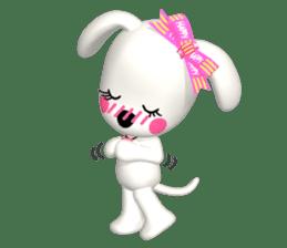 "3D WHITE DOG ""PEACE-K & HAPPY"" (1) sticker #247898"