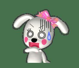 "3D WHITE DOG ""PEACE-K & HAPPY"" (1) sticker #247903"
