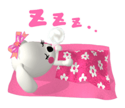 "3D WHITE DOG ""PEACE-K & HAPPY"" (1) sticker #247906"