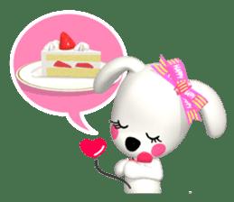 "3D WHITE DOG ""PEACE-K & HAPPY"" (1) sticker #247908"