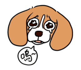 Beagle RUN! sticker #248037