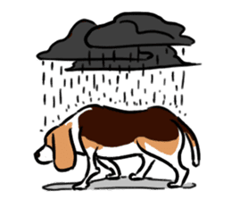 Beagle RUN! sticker #248071
