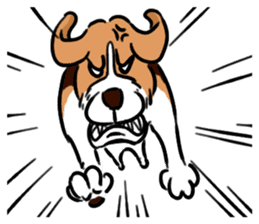 Beagle RUN! sticker #248072