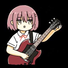 High School Girl & Guitar Stamp Box