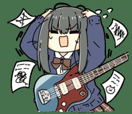 High School Girl & Guitar Stamp Box sticker #248179