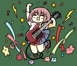 High School Girl & Guitar Stamp Box sticker #248182