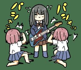 High School Girl & Guitar Stamp Box sticker #248186