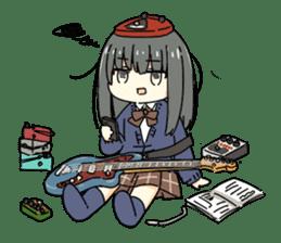 High School Girl & Guitar Stamp Box sticker #248190