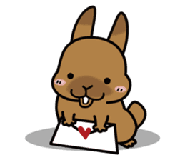 Rabbit's daily Stamp sticker #248999