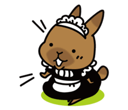 Rabbit's daily Stamp sticker #249005