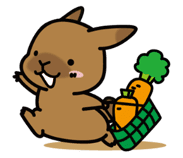 Rabbit's daily Stamp sticker #249009